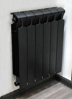 Радиатор биметаллический RIFAR Monolit 500-6 Ду 3/4 (RAL 9005 матовый) биметаллический радиатор rifar rifar monolit 500 12 секц