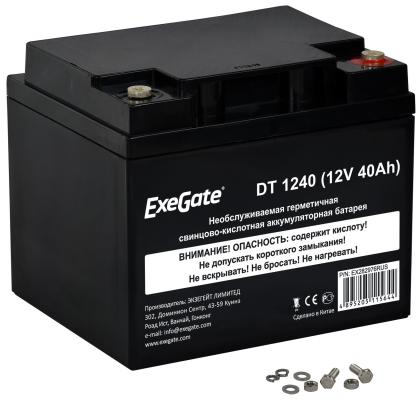 Exegate EX282976RUS Аккумуляторная батарея ExeGate DT 1240 (12V 40Ah), клеммы под болт М5