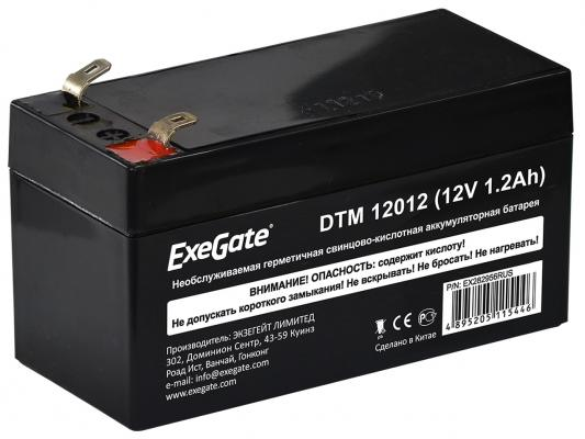 Exegate EX282956RUS Exegate EX282956RUS Аккумуляторная батарея ExeGate DTM 12012 (12V 1.2Ah), клеммы F1