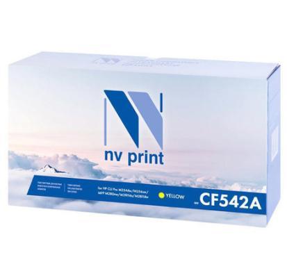 NV Print CF542A Картриджи для HP Color LaserJet Pro M254dw/ M254nw/ M280nw/ M281fdn/ M281fdw (1300k), Yellow картридж nv print nv cf542a для hp color laserjet pro m254dw m254nw mfp m280nw m281fdn m281fdw yellow