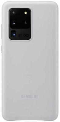 Фото - Чехол (клип-кейс) Samsung для Samsung Galaxy S20 Ultra Leather Cover серебристый (EF-VG988LSEGRU) чехол клип кейс samsung s20 g980 clearview l blue ef zg980clegru