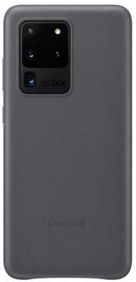 Фото - Чехол (клип-кейс) Samsung для Samsung Galaxy S20 Ultra Leather Cover серый (EF-VG988LJEGRU) чехол клип кейс samsung s20 g980 clearview l blue ef zg980clegru