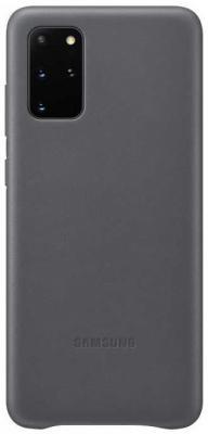 Фото - Чехол (клип-кейс) Samsung для Samsung Galaxy S20+ Leather Cover серый (EF-VG985LJEGRU) чехол клип кейс samsung s20 g980 clearview l blue ef zg980clegru