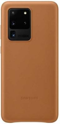 Фото - Чехол (клип-кейс) Samsung для Samsung Galaxy S20 Ultra Leather Cover коричневый (EF-VG988LAEGRU) чехол клип кейс samsung s20 g980 clearview l blue ef zg980clegru