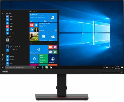 "Монитор 27"" Lenovo ThinkVision T27h-20 черный IPS 2560x1440 350 cd/m^2 4 ms HDMI DisplayPort Аудио USB USB Type-C"