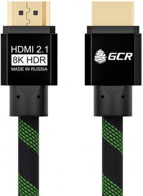 Кабель HDMI 1м Green Connection GCR-51833 круглый черный/зеленый