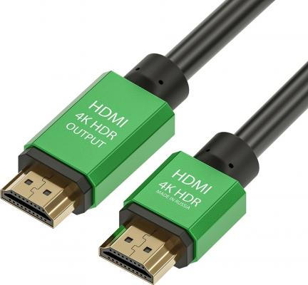 Фото - Кабель HDMI 5м Green Connection GCR-51027 круглый черный кабель hdmi 1 5м green connection gcr 50770 плоский синий