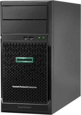 Сервер HPE ProLiant ML30 Gen10 1xE-2224 1x8Gb S100i 1G 2P 1x350W (P16926-421) сервер dell poweredge r240 1xe 2236 x4 1x4tb 7 2k 3 5 sata rw h330 id9en 1g 2p 1x250w 3y nbd rails per240ru2 1
