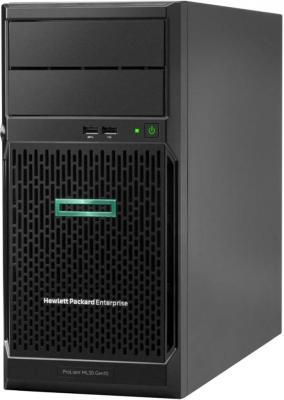 Сервер HPE ProLiant ML30 Gen10 1xE-2224 1x16Gb S100i 1G 2P 1x350W 8 SFF (P16930-421) сервер dell poweredge r240 1xe 2236 x4 1x4tb 7 2k 3 5 sata rw h330 id9en 1g 2p 1x250w 3y nbd rails per240ru2 1