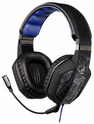 Наушники с микрофоном Hama uRage SoundZ 310 черный/серый 2.5м накладные USB оголовье (00186023)