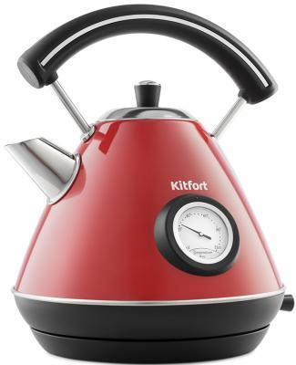 Чайник электрический KITFORT KT-687-1 2200 Вт красный 1.7 л нержавеющая сталь