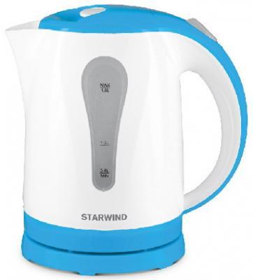 Фото - Чайник электрический StarWind SKP1217 2200 Вт белый голубой 1.8 л пластик чайник электрический starwind skp2212 белый черный