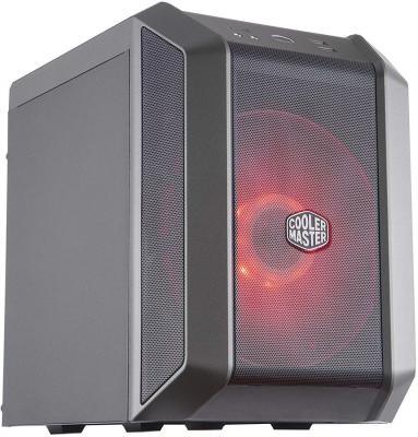 Cooler Master MasterCase H100 Mesh, USB3.0x2, 1x200 ARGBFan, 1x RGB Controller, Black-Iron Grey, mITX, w/o PSU