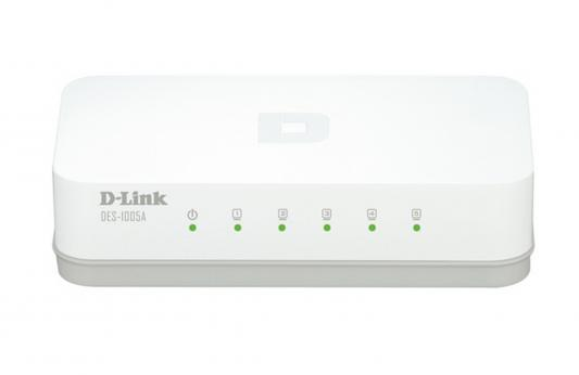 Картинка для Коммутатор D-LINK DES-1005A/С/А1А неуправляемый 5 портов 10/100Mbps