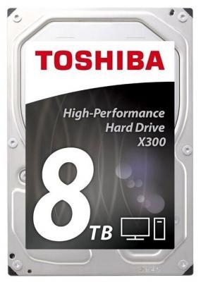 Жесткий диск Toshiba SATA-III 8Tb HDWR180UZSVA X300 (7200rpm) 256Mb 3.5 жесткий диск toshiba sata iii 6tb hdwr160uzsva x300 7200rpm 256mb 3 5 bulk hdwr160uzsva