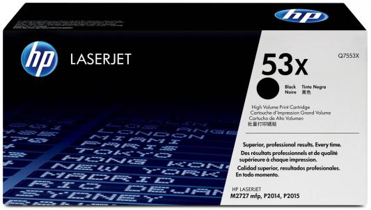 Тонер-картридж HP Q7553X for LJ P2015 (7000 pages) картридж sakura q5949x q7553x для hp lj 1320 1320n 1320nw 1320t 1320tn m3390mfp m3392mfp p2015 m2727nfmfp m2727mfsmfp 6000стр