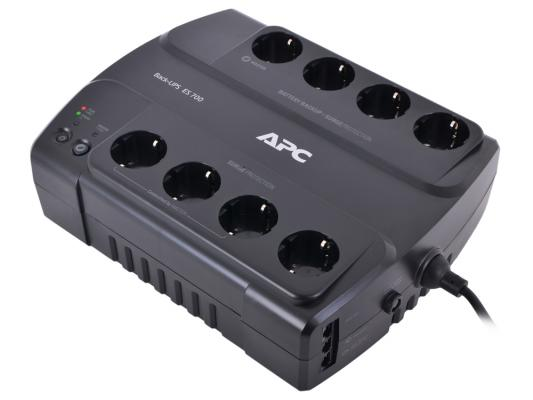 Источник бесперебойного питания APC BACK ES 700VA 700VA Черный ибп apc be700g rs power saving back ups es 8 outlet 700va 405w