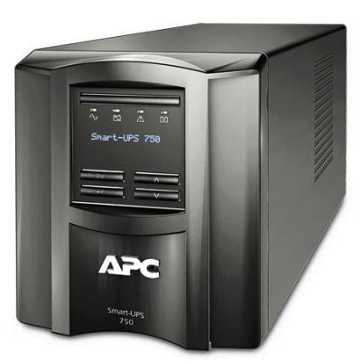ИБП APC SMART 750VA LCD SMT750I ибп apc smart 2200va usb lcd smt2200rmi2u
