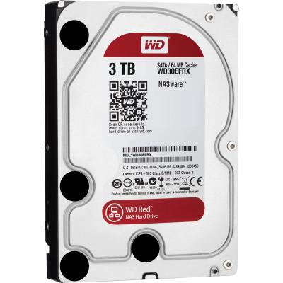3.5'' Жесткий диск 3Tb Western Digital Caviar Red (WD30EFRX) SATA III 5400rpm 64Mb
