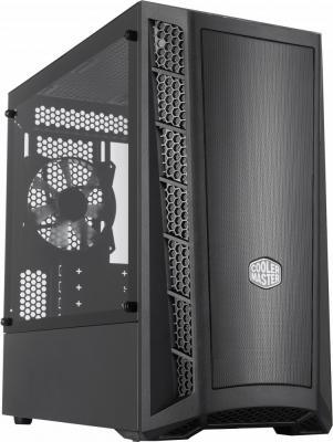 Cooler Master MasterBox MB311L, 2xUSB3.0, 1x120 Fan, w/o PSU, Black, mATX cooler master masterbox mb511 2xusb3 0 1x120 fan w o psu black red trim mesh front panel atx