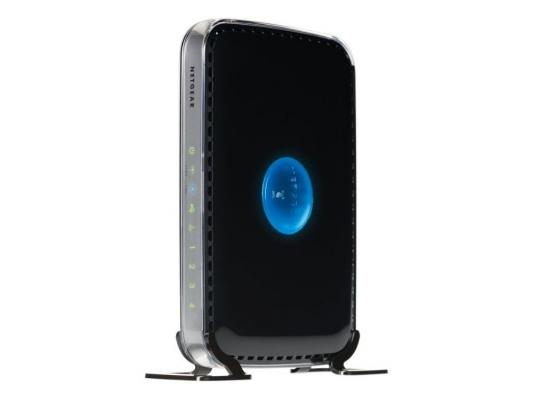Маршрутизатор NetGear WNDR3400-100PES 802.11n 300Mbps 2.4 ГГц 5 ГГц 4xLAN USB USB черный