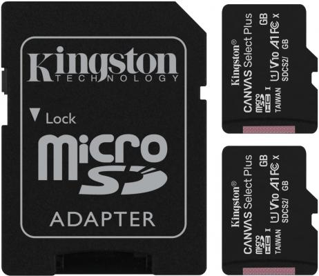 Фото - Карта памяти microSDXC 64GB Kingston Class10 UHS-I Canvas Select up to 100MB/s с адапт (SDCS2/64GB-2P1A) карта памяти microsdhc 16gb kingston class10 uhs i canvas select up to 100mb s с адапт sdcs2 16gb 2p1a