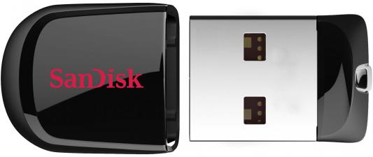 Внешний накопитель 16GB USB Drive <USB 2.0> SanDisk Cruzer Fit (SDCZ33-016G-B35) usb flash накопитель 16gb sandisk cruzer dial sdcz57 016g b35 usb 2 0 черный