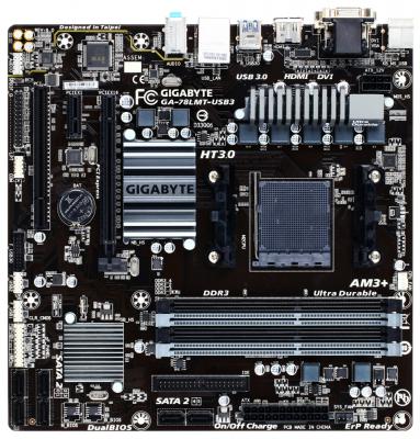 Материнская плата для ПК GigaByte GA-78LMT-USB3 Socket AM3+ 760G 4xDDR3 1xPCI-E 16x 1xPCI 1xPCI-E 1x 6xSATA II mATX Retail