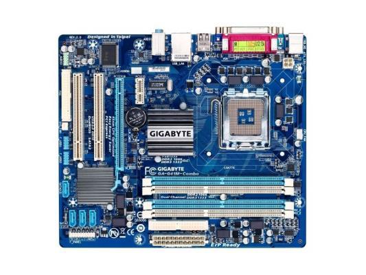 Материнская плата для ПК GigaByte GA-G41M-COMBO Socket 775 G41 2xDDR2 2xDDR3 1xPCI-E 16x 2xPCI 1xPCI-E 1x 4xSATA II mATX Retail