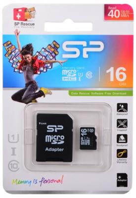 Фото - ! Карта памяти microSDHC 16GB Silicon Power Class10 с адаптером (SP016GBSTH010V10SP) карта памяти