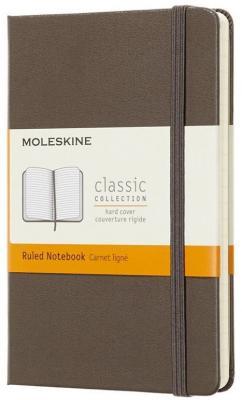 Фото - Блокнот Moleskine CLASSIC MM710P14 Pocket 90x140мм 192стр. линейка твердая обложка коричневый блокнот moleskine classic mm710p14 pocket 90x140мм 192стр линейка твердая обложка коричневый
