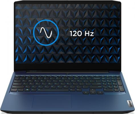 Ноутбук Lenovo IP Gaming 3 15IMH05 Core i5 10300H/8Gb/SSD256Gb/nVidia GeForce GTX 1650 4Gb/15.6/IPS/FHD (1920x1080)/Windows 10/blue/WiFi/BT/Cam lenovo ideapad 3 15imh05 gaming [81y40099rk] blue 15 6 fhd i5 10300h 8gb 512gb ssd gtx1650ti 4gb dos