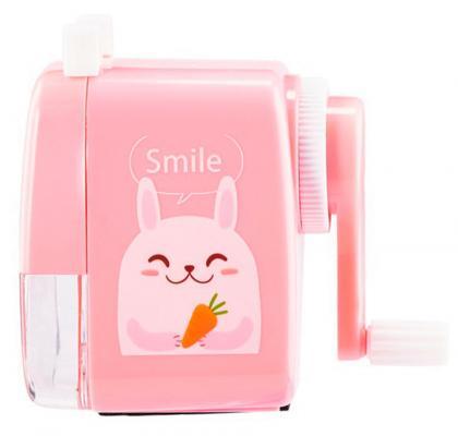Фото - Точилка для карандашей механическая Kw-Trio 03035B-pink 1 отверстие пластик розовый точилка kw trio 305agr пластик серый