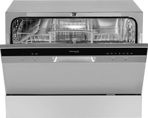 Посудомоечная машина Weissgauff TDW 4017 DS серебристый/черный (компактная) посудомоечная машина weissgauff tdw 4006
