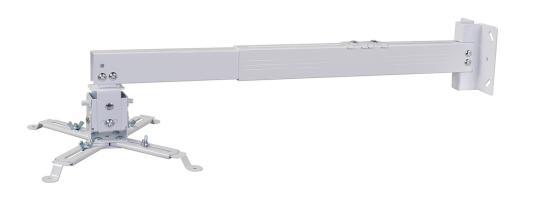 Фото - Кронштейн для проектора Cactus CS-VM-PRE02-WT белый макс.23кг настенный и потолочный поворот и наклон карниз потолочный пластиковый dda поворот акант двухрядный серебро 2 8
