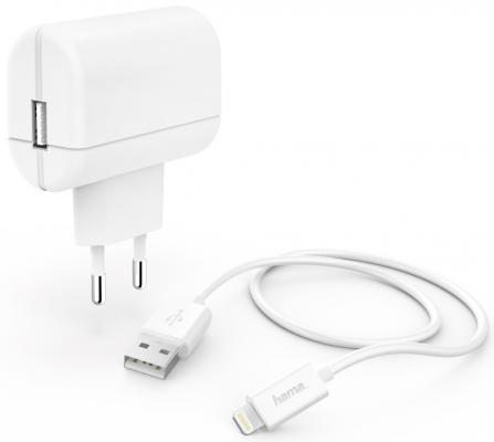 Фото - Сетевое зарядное устройство HAMA H-183265 8-pin Lightning 2.4А белый сетевое зарядное устройство hama h 183265 8 pin lightning 2 4а белый