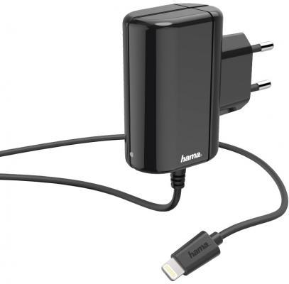 Фото - Сетевое зарядное устройство HAMA H-183267 8-pin Lightning 1A черный сетевое зарядное устройство hama h 183265 8 pin lightning 2 4а белый