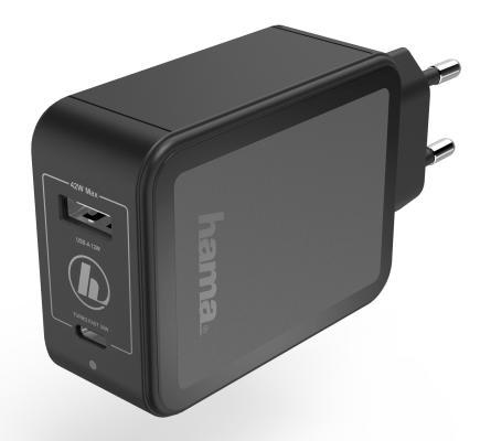 Фото - Сетевое зарядное устройство HAMA H-183321 3 А черный сетевое зарядное устройство hama h 183321 3a 3a pd qc черный 00183321