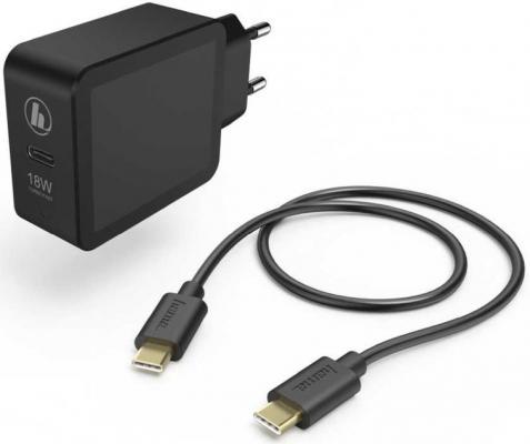 Фото - Сетевое зарядное устройство HAMA H-183326 USB-C 3 А черный сетевое зарядное устройство hama h 173617 usb type c 3a черный