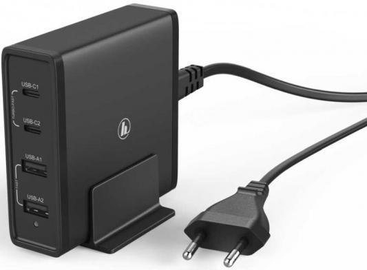 Фото - Сетевое зарядное устройство HAMA H-183376 2А черный сетевое зарядное устройство hama h 183376 2xusb 2xusb type c набор разъемов 2a черный