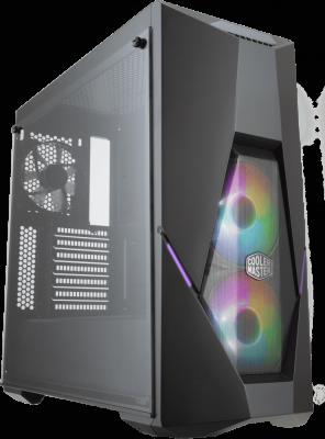Cooler Master MasterBox K500, 2xUSB3.0, 2xARGB fan, 1x120fan, Tempered glass side panel, w/o PSU, Black, ATX cooler master masterbox mb511 2xusb3 0 1x120 fan w o psu black red trim mesh front panel atx