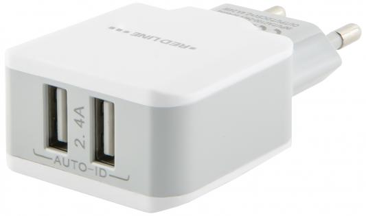 Сетевое зарядное устройство Red Line NC-2.4A USB-C 2.4А белый УТ000013633 зарядное устройство red line nc 2 1ac micro usb red