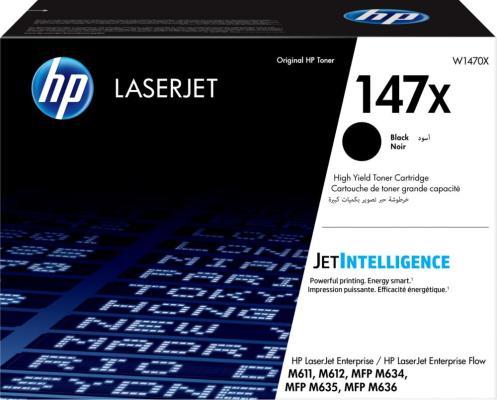 Картридж HP W1470X для HP LaserJet Enterprise M611 LaserJet Enterprise M612 LaserJet Enterprise MFP M634 LaserJet Enterprise MFP M635 LaserJet Enterprise MFP M636 25200стр Черный