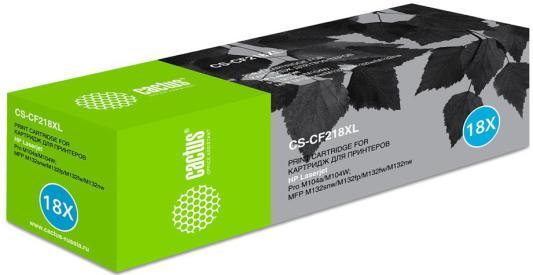 Тонер Картридж Cactus CS-CF218XL черный (6000стр.) для HP HP Laserjet Pro M104a/M104W/ MFP M132snw/M
