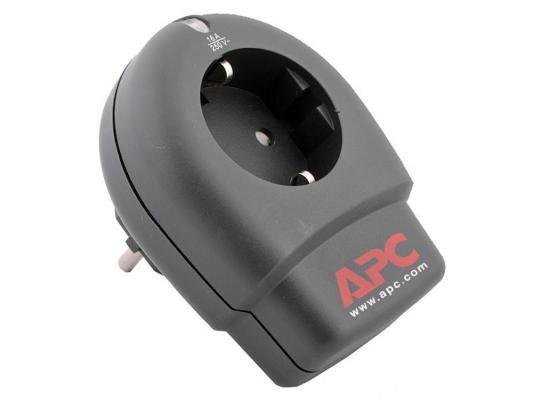 Сетевой фильтр APC P1-RS черный 1 розетка