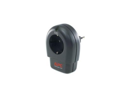 Сетевой фильтр APC P1T-RS черный 1 розетка