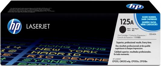 Тонер-картридж HP CB540A для CLJ CP1215/CP1515/CP1518 black (2 200 стр) hp 125a cb543a пурпурный для clj cp1215 cp1515 cp1518 1400стр