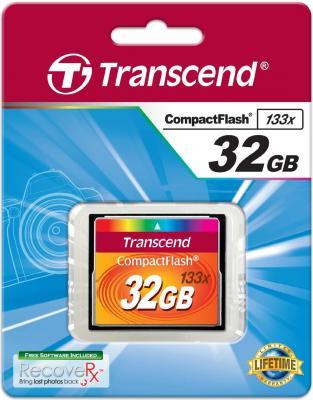 Карта памяти Compact Flash 32Gb Transcend TS32GCF133 133-x цена и фото
