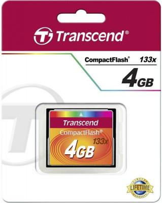 Карта памяти Compact Flash 4Gb Transcend 133x Type I TS4GCF133 цена и фото
