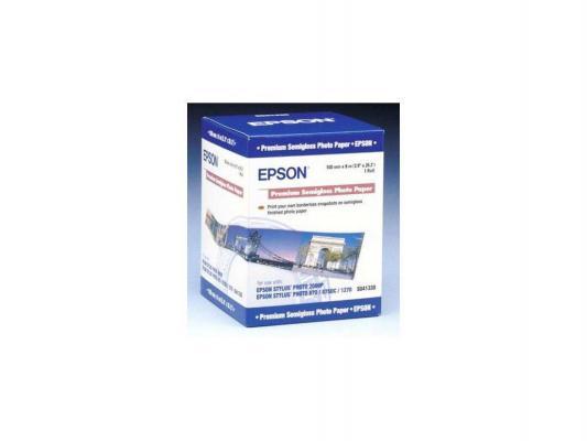 Бумага Epson C13S041330 Premium Semiglossy Photo Paper 100*8m, 251г/м2 бумага c13s041617 epson enchanced adhesive syntetic paper 2430 5m c13s041617